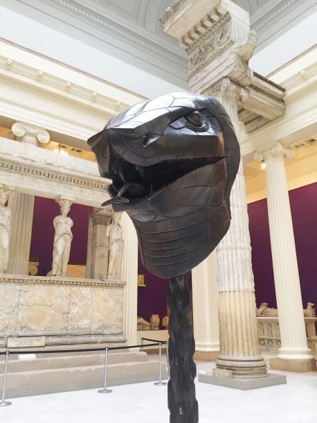 Snake head from Ai Wei Wei exhibit