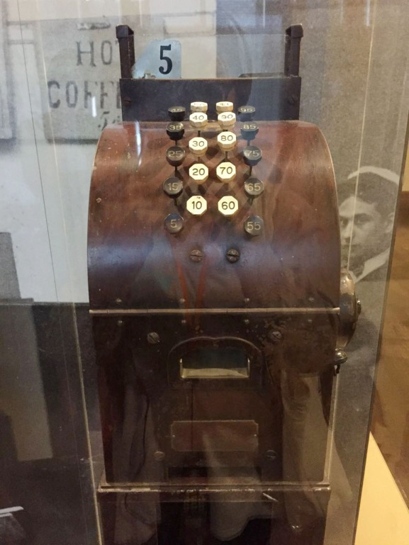 Old cash register used to sell goods here